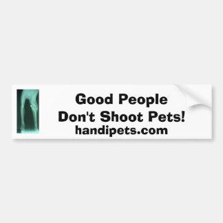 Ontspruit geen huisdieren bumpersticker