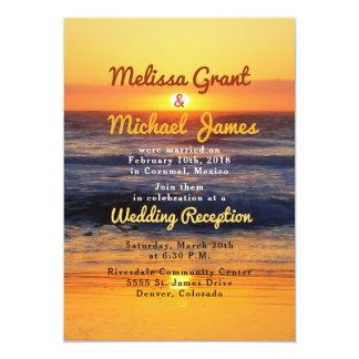 Ontvangst van het Huwelijk van het Strand van de Kaart