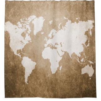 Ontwerp 56 wereldkaart gordijn         0