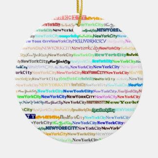 Ontwerp II van de Tekst van de Stad van New York Ornament