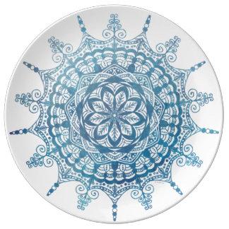 Ontwerp Mandala van het Bord van het porselein het Porselein Bord
