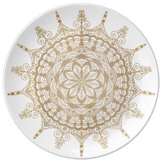 Ontwerp Mandala van het Bord van het porselein het Porseleinen Bord