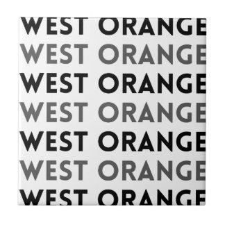 Ontwerp Tegel van de West- het Oranje van New Keramisch Tegeltje