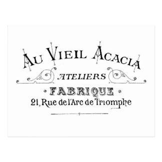 Ontwerp Typograpy van de Stof van de acacia het Briefkaart