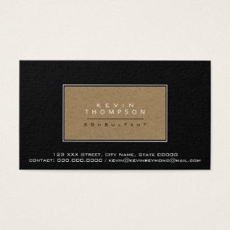 ontwerp uw eigen elegante zwarte prof.norm visitekaartjes
