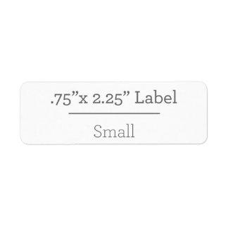 Ontwerp Uw Eigen Etiket 8.5 X 11 Retouretiket