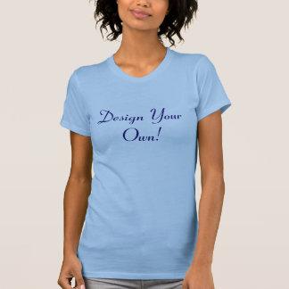 Ontwerp Uw Eigen OceaanBlauw en Middernacht T-shirts