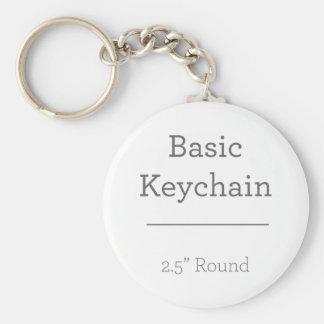 Ontwerp Uw Eigen Ronde Foto Keychain Sleutelhanger