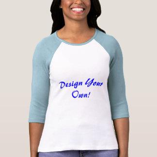 Ontwerp Uw Eigen Wit en Blauw van het Baby T Shirts