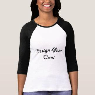 Ontwerp Uw Eigen Wit en Zwart T Shirt