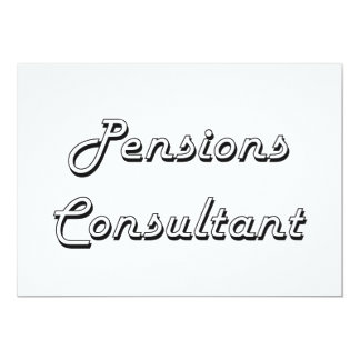 Ontwerp van de Baan van de Adviseur van pensioenen 12,7x17,8 Uitnodiging Kaart