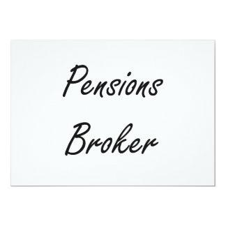 Ontwerp van de Baan van de Makelaar van pensioenen 12,7x17,8 Uitnodiging Kaart