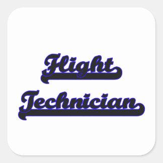 Ontwerp van de Baan van de Technicus van de vlucht Vierkante Sticker