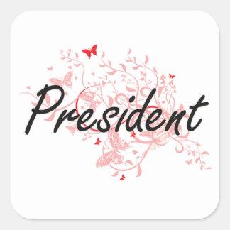Ontwerp van de Baan van het president het Vierkante Sticker