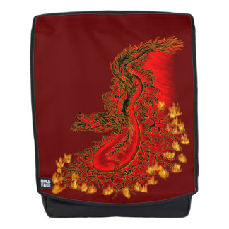 Ontwerp van de Draak van China het rode en gouden Rugtassen