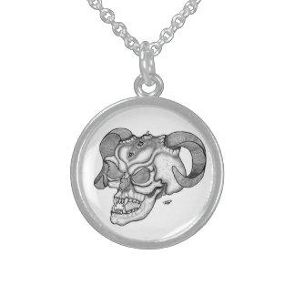 Ontwerp van de Duivel van de schedel het hoofd Sterling Zilveren Kettingen