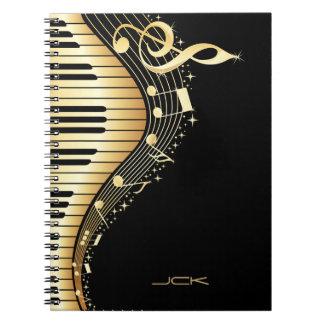 Ontwerp van de Nota's van de Muziek van het Ringband Notitieboek