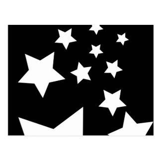 Ontwerp van de Ster van de pret het Zwart-witte Briefkaart