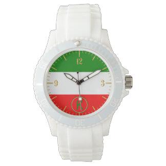 Ontwerp van de Vlag van Italië het Italiaanse met Horloge