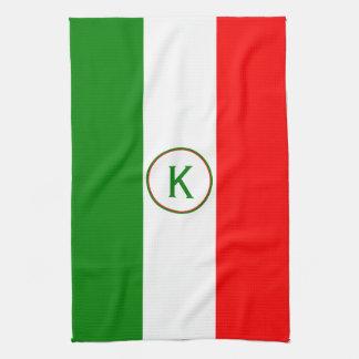 Ontwerp van de Vlag van Italië het Italiaanse met Theedoek