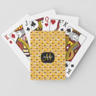 Ontwerp van Emoji Smiley van het monogram het Pokerkaarten