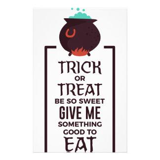 Ontwerp van Halloween van het Snoep van het trick Briefpapier