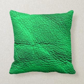 Ontwerp van het het neon het groene hoofdkussen sierkussen