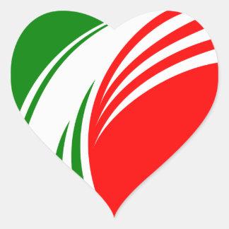 Ontwerp van Tricolore van de Vlag van Italië het Hart Sticker