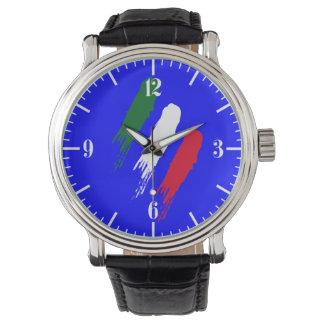 Ontwerp van Tricolore van de Vlag van Italië het Horloge