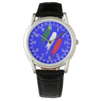 Ontwerp van Tricolore van de Vlag van Italië het Horloges