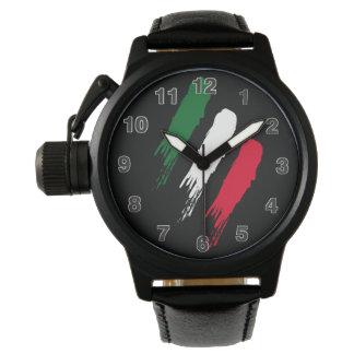 Ontwerp van Tricolore van de Vlag van Italië het Polshorloge
