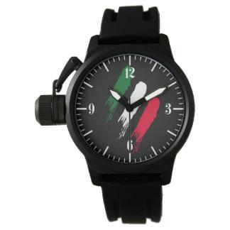 Ontwerp van Tricolore van de Vlag van Italië het Polshorloges