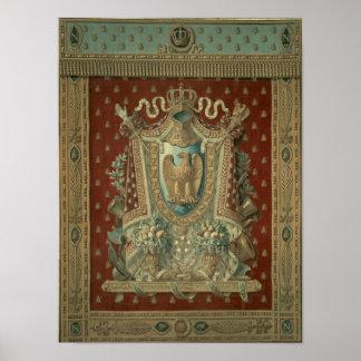Ontwerp voor een tapijtwerk in de studie van Bonap Poster