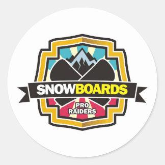 Ontwerp voor Raider Snowboarding Ronde Sticker