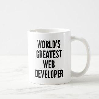 Ontwikkelaar van het Web van werelden de Grootste Koffiemok