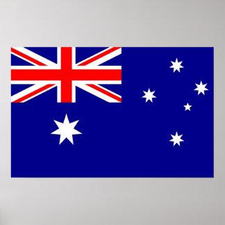 Ontworpen druk met Vlag van Australië Poster