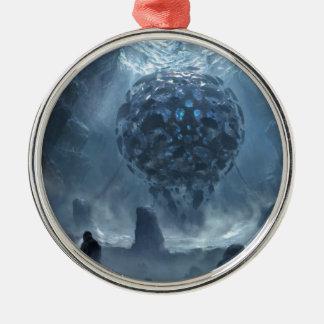 Onuitgesproken Definities Zilverkleurig Rond Ornament