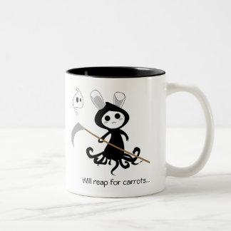 Onverbiddelijk Konijntje Tweekleurige Koffiemok