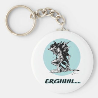Onverbiddelijke Gargouille Basic Ronde Button Sleutelhanger