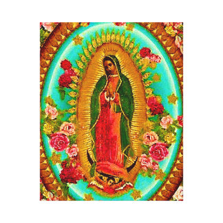 Onze Dame Guadalupe Mexican Saint Virgin Mary Canvas Afdruk