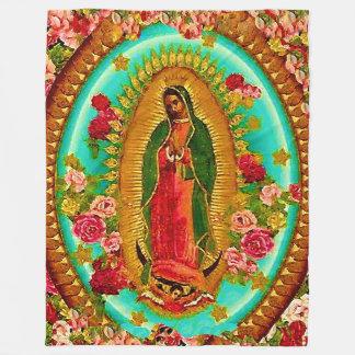 Onze Dame Guadalupe Mexican Saint Virgin Mary Fleece Deken