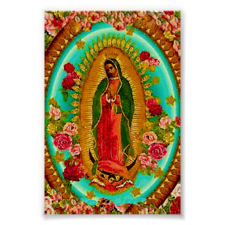 Onze Dame Guadalupe Mexican Saint Virgin Mary Poster