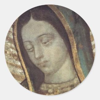 Onze Dame van Guadalupe Ronde Sticker