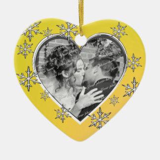 Onze Eerste Kerstmis Keramisch Hart Ornament