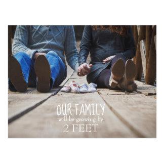 Onze Familie zal door 2 Voet van het Briefkaart