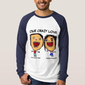 Onze Gekke Cartoon van de Liefde T Shirt