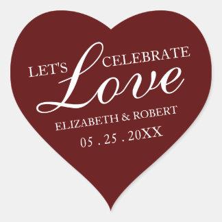 Onze Liefde | Rode Stickers van de Uitnodiging van