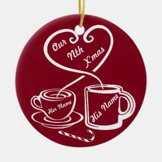 Onze Nth Kerstmis Rond Keramisch Ornament