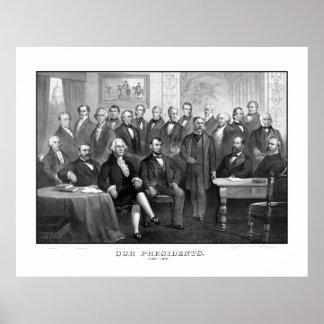 Onze Presidenten 1789 - 1881 Poster
