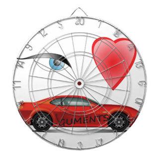 Oog-hart-rood Dartbord